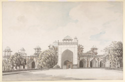Akbar's mausoleum, Sikandra, Agra, from the north